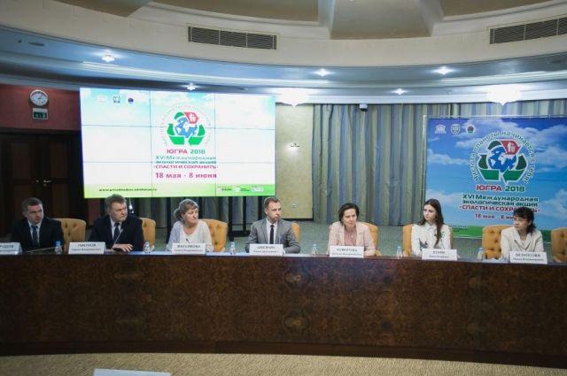 Губернатор Югры Наталья Комарова встретилась с победителями основных экологических конкурсов