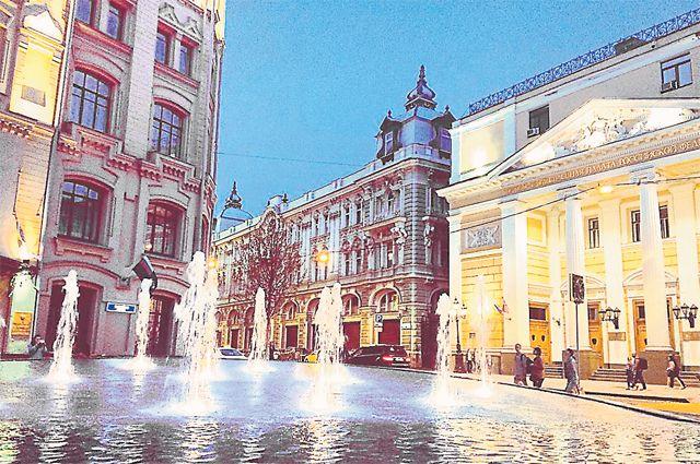 Фонтан на Биржевой площади.