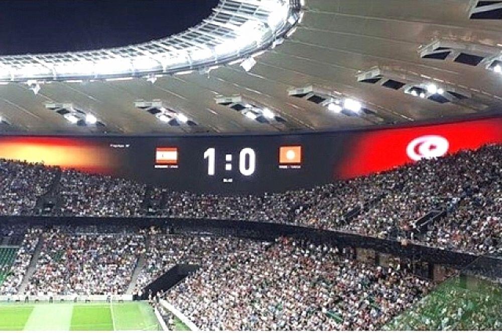 Только на 84-минуте испанцам удалось забить гол.