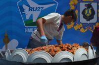 Триста килограммов плова приготовили в Хабаровске
