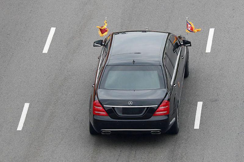 Лимузин лидера КНДР Ким Чен Ына.