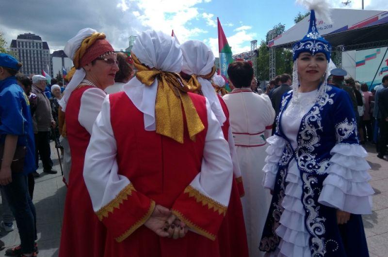 Участники фестиваля «Мост Дружбы». День города-2018 в Тюмени.
