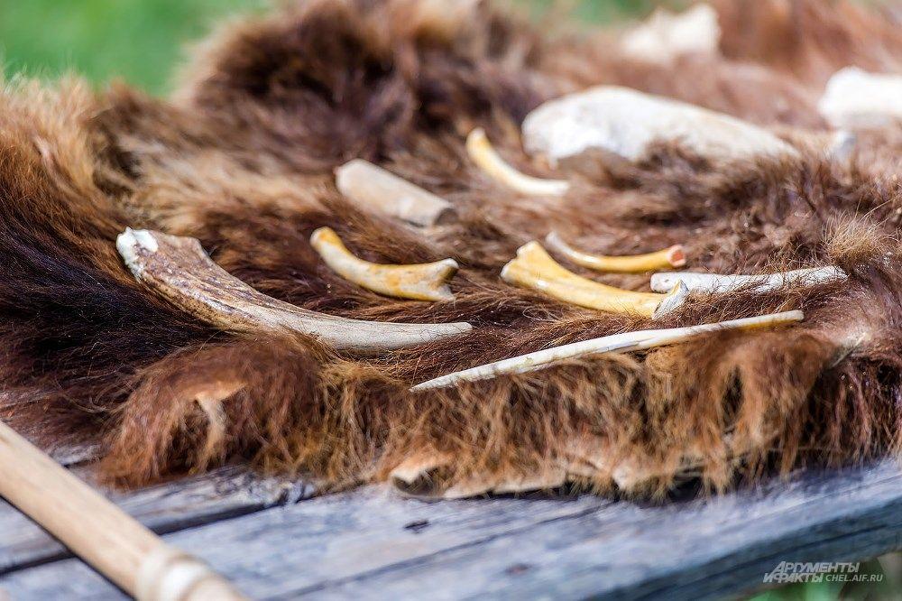 Кости животных также часто становились материалом для различных предметов.