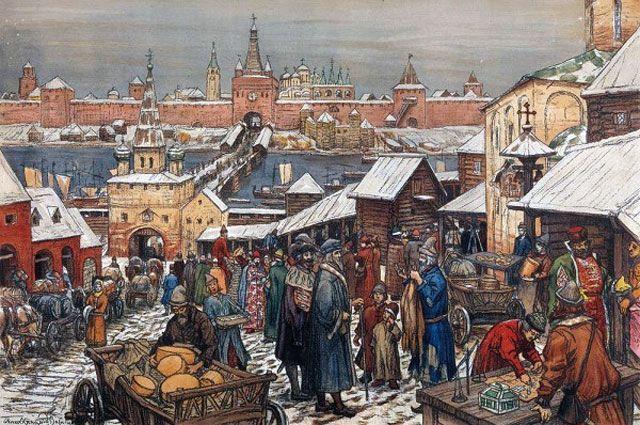 А.М. Васнецов. Новгородский торг