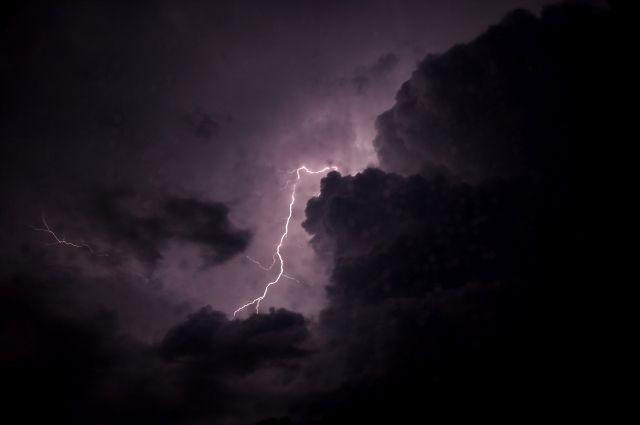 В Оренбуржье в ближайшие сутки ожидаются гроза и штормовой ветер.