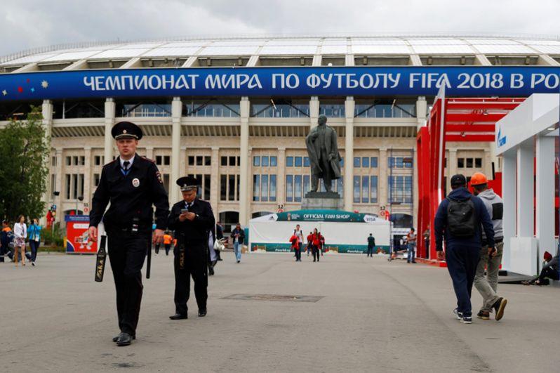 Стадион «Лужники» за день до начала ЧМ-2018.