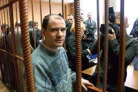 Игорь Сутягин на скамье подсудимых в зале Московского городского суда, апрель 2004 г.