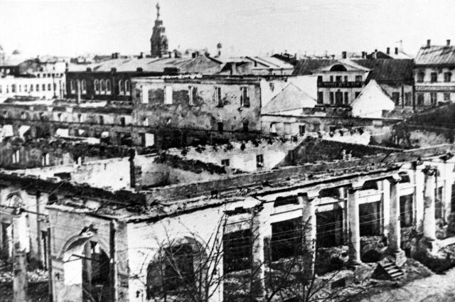 После подавления мятежа Ярославль оказался в руинах.