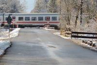 В Лабытнанги самосвал попал под поезд