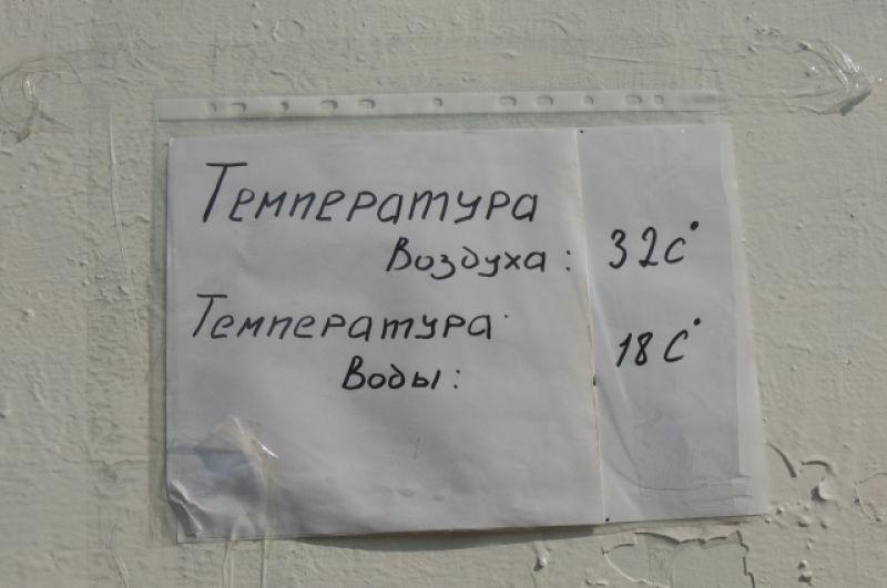 Купаться нельзя, но о температуре воды отдыхающих информируют.
