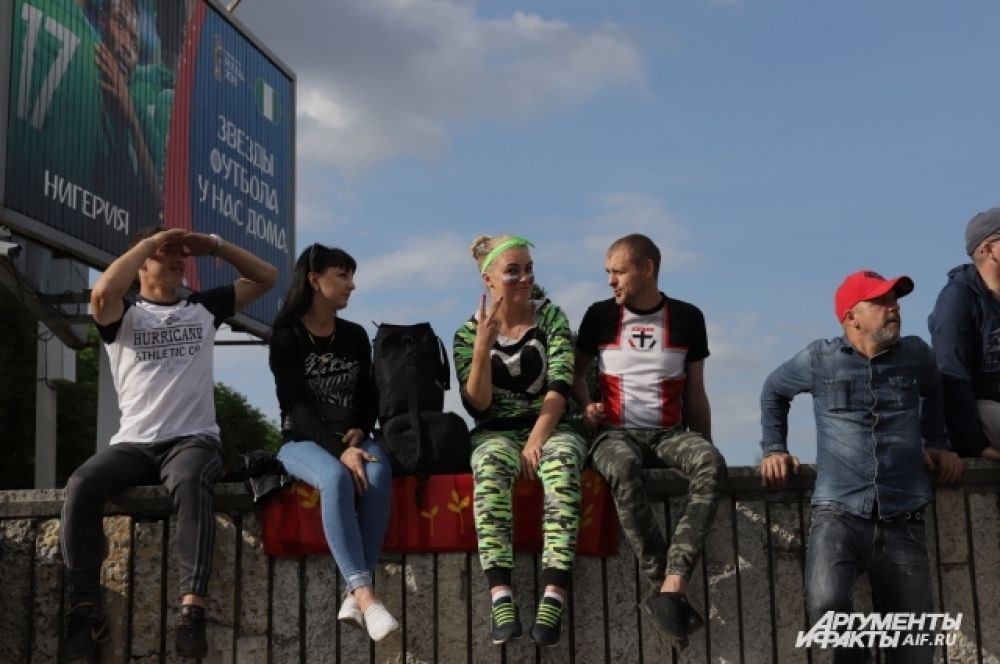Болельщики в Калининграде.
