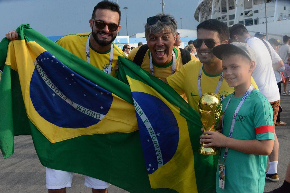 Много в Сочи и бразильских болельщиков.