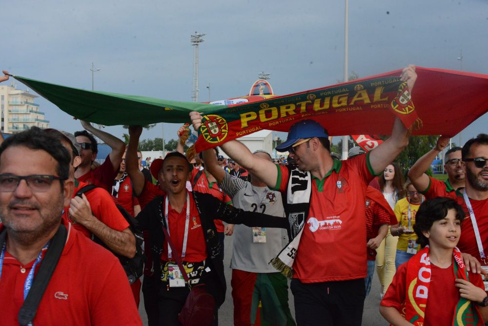 У сборной Португалии тоже немало поклонников.