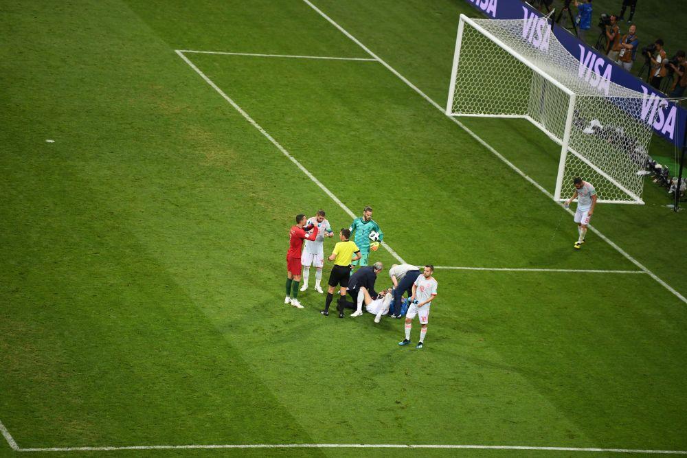 На 25-й минуте испанцы сравняли счет - отличился Диего Коста.
