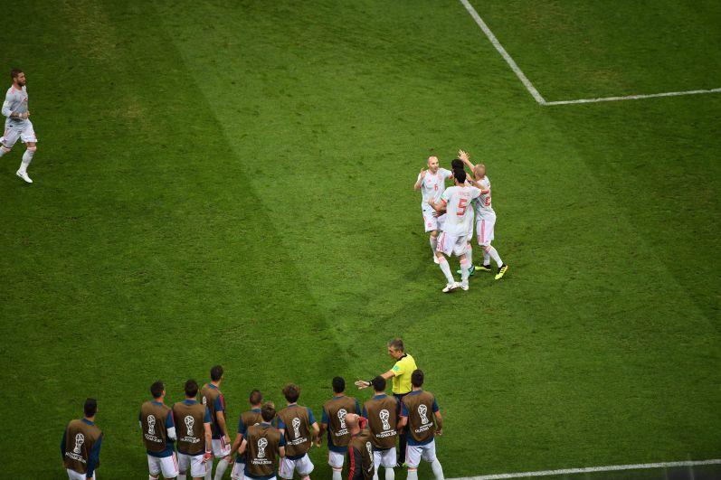Испанцы сравняли счёт после гола Роналду.