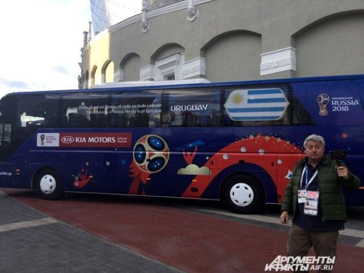 На таких автобусах возят сборные на чемпионате мира.