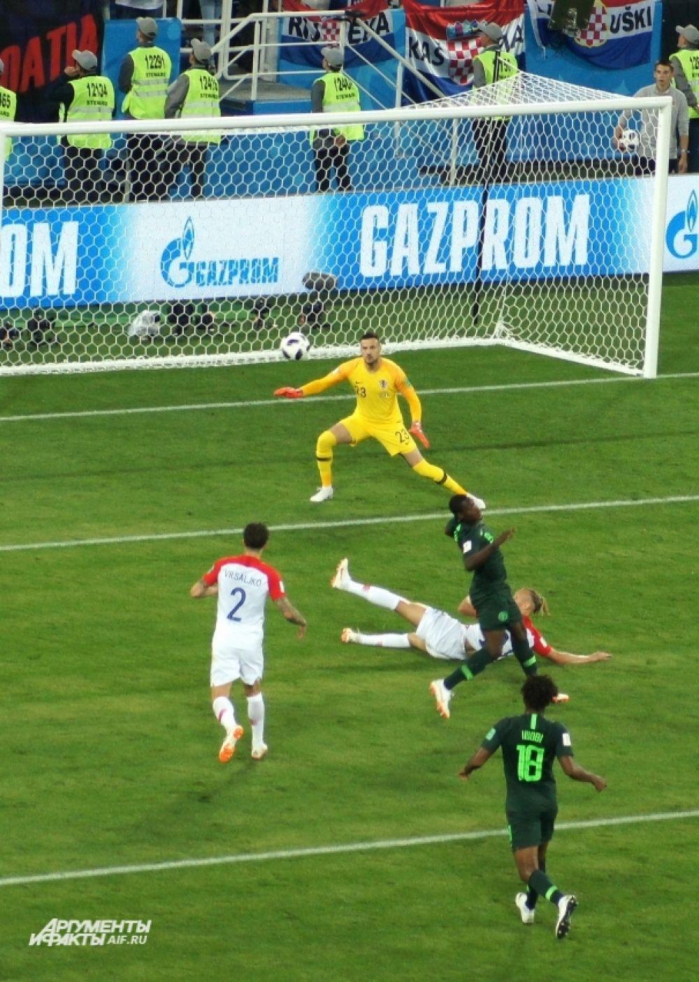 Матч Нигерия-Хорватия.