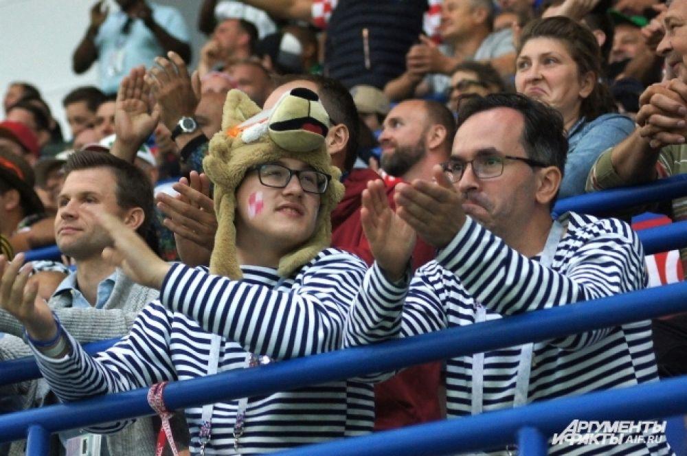 Болельщики сборной Хорватии.