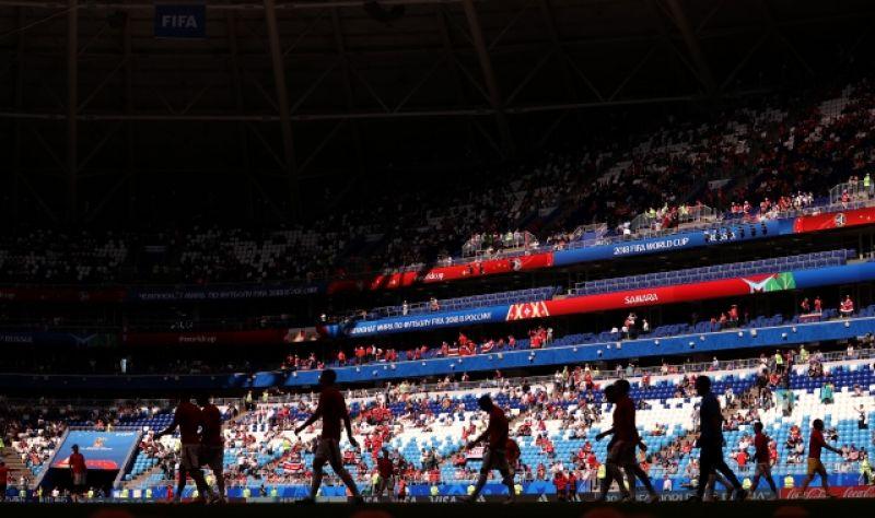 Первый для Самары матч турнира собрал около 42 тысяч зрителей.