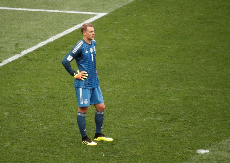 Голкипер сборной Германии Мануэль Нойер.