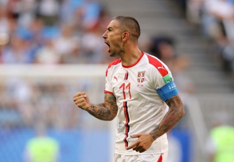 Герой встречи - Александар Коларов, капитан сборной Сербии, забивший единственный гол.