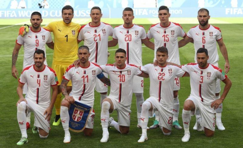 Сборная Сербии.