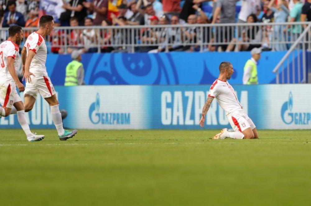 Первый матч принес сборной Сербии первую уверенную победу на турнире.