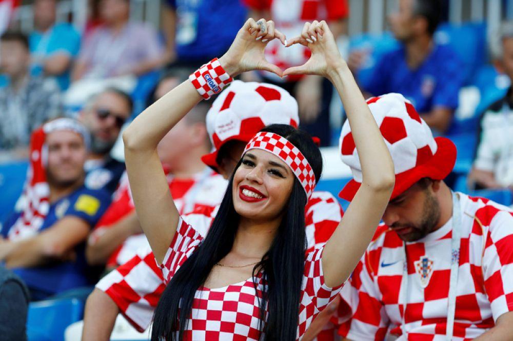 Болельщица из Хорватии перед матчем с Нигерией в Калининграде.