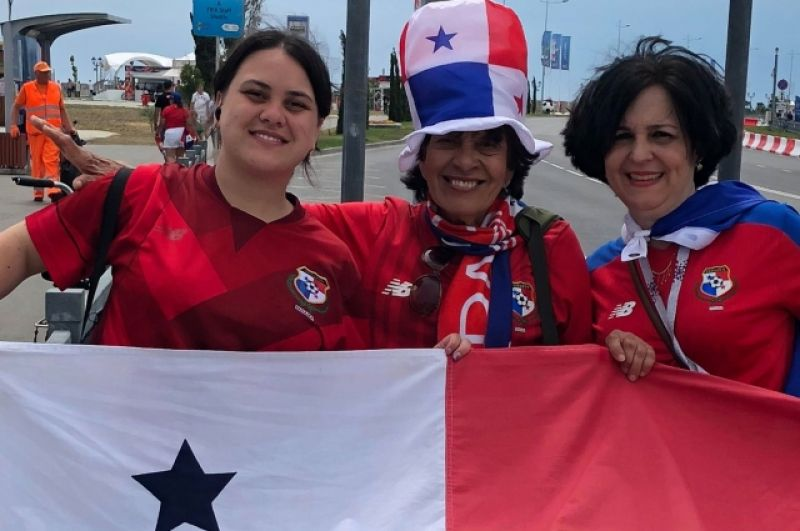 Панамские болельщики прилетели на матч с пятью пересадками.