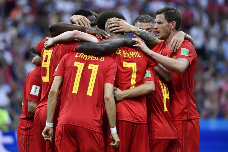 Объятия сборной Бельгии.
