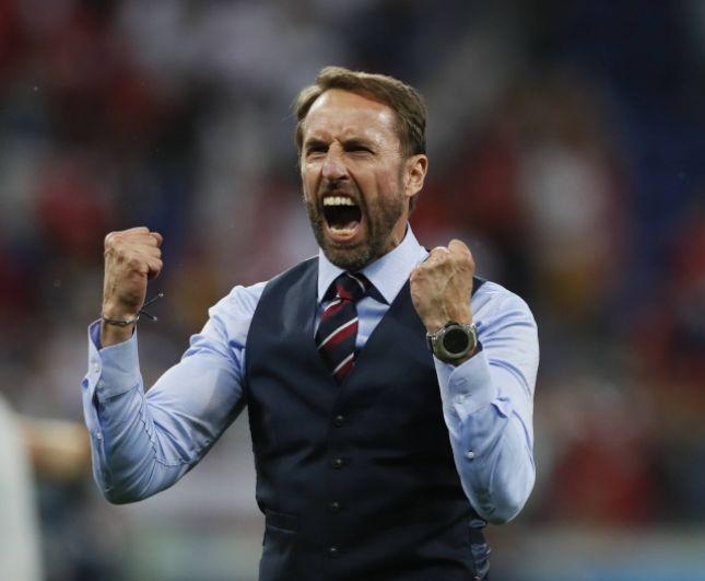 Главный тренер сборной Англии Гаарет Саутгейт после гола Кейна.