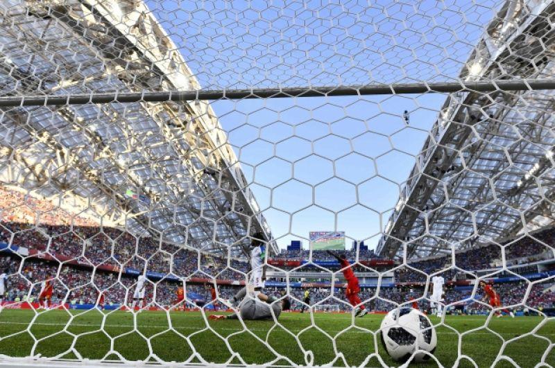 Гол в ворота сборной Панамы.