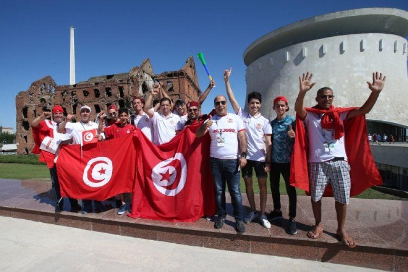 Болельщики сборной Туниса на улицах Волгограда.
