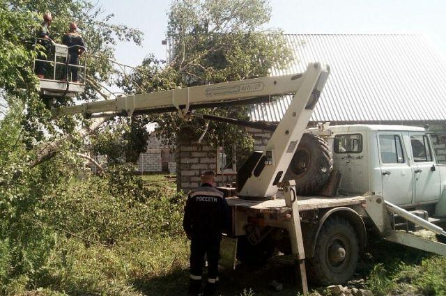 Ликвидация последствий урагана в п. Центральный