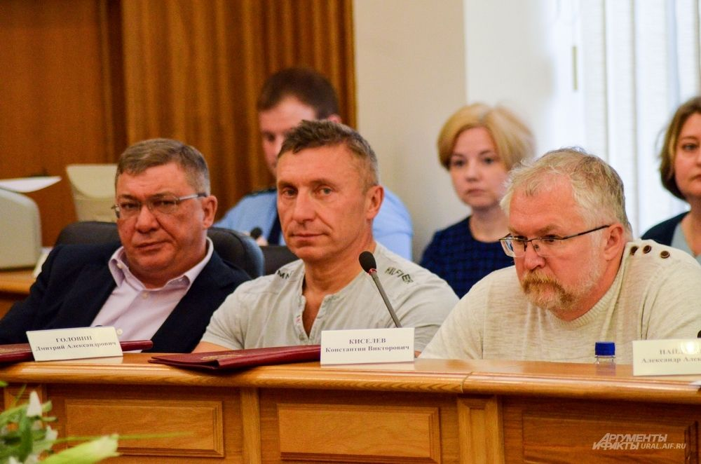 Депутаты Алексей Бородин, Дмитрий Головин и Константин Киселёв (слева направо).