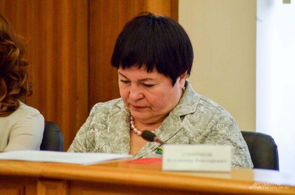 Председатель Комиссии по развитию образования, науки, физической культуры, спорта и молодежной политике Елена Дерягина.