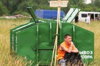 В районных бюджетах не заложены финансы на обустройство площадок для мусорных контейнеров.
