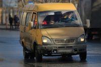 Маршрутное такси в городе.