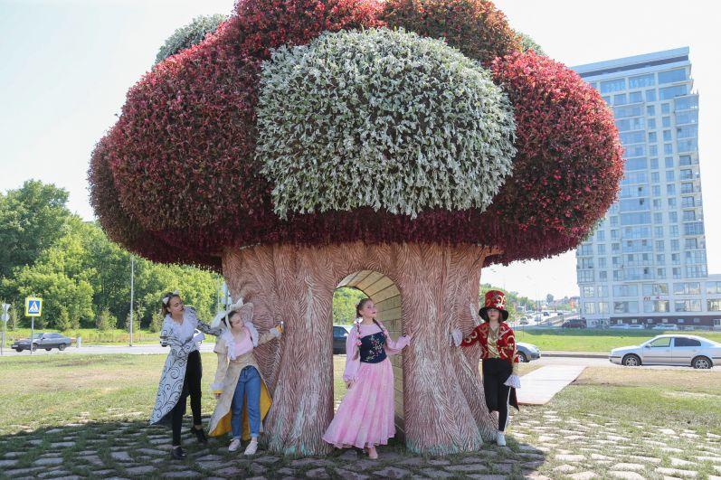 Огромный баобаб отсылает гостей фестиваля к