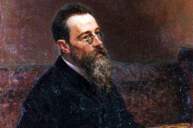 Портрет композитора Н.А.Римского-Корсакова, 1893 год. Художник Илья Репин. Фрагмент.