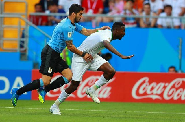 Автор единственного гола Луис Суарес, признанный лучшим игроком матча Уругвай – Саудовская Аравия.