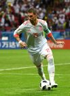 Серхио Рамос с мячом. Большую часть игрового времени именно испанцы контролировали мяч.