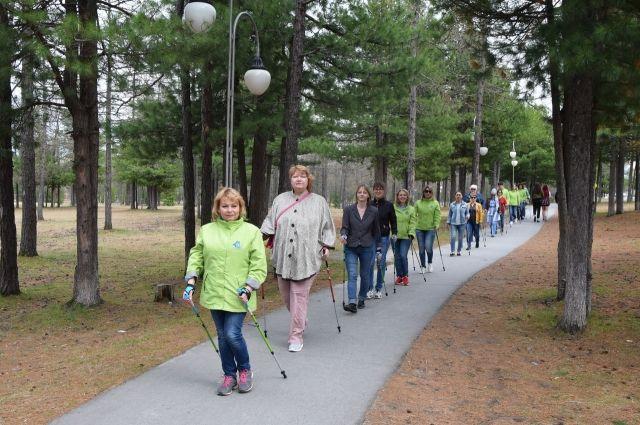 Ямальцы делают к здоровью скандинавские шаги