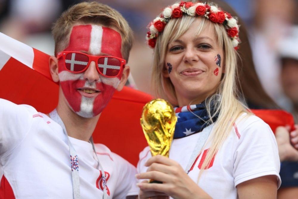 Болельщики сборной Дании.