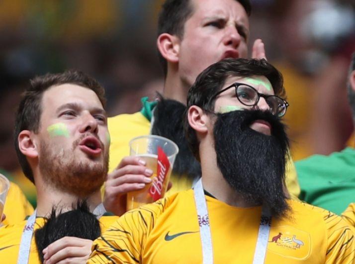 Австралийские болельщики.