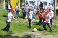 Команда дошколят-футболистов.