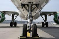 В Тюмени у самолета во время взлета загорелись шасси