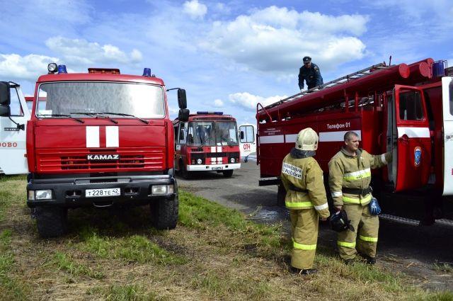 Крупный пожар произошёл в Кемерове на улице Терешковой.