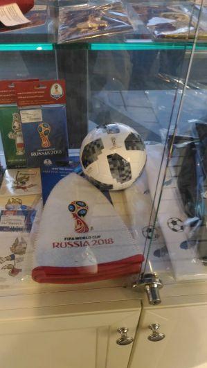 Шапка для бани с символикой ЧМ по футболу.