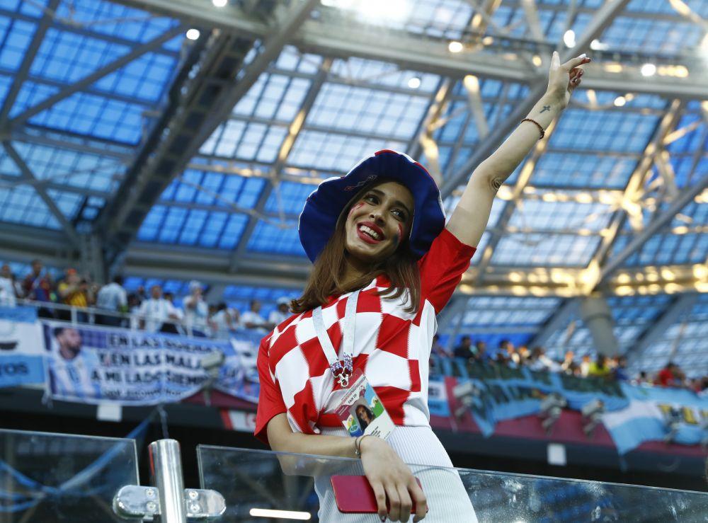 А хорватские болельщики радуются забитым голам